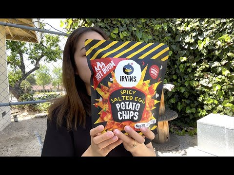 Sally's SNACK ATTACK ROAR: Episode 5 - Singaporean Snack! Irvin's Spicy Salted Egg Potato Chip