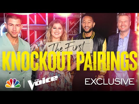 First Knockout Pairings for Teams Kelly, Nick, Legend and Blake Revealed! - The Voice Knockouts 2021