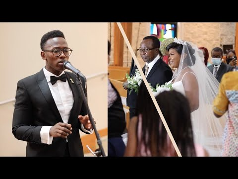 This Bride's Special Grand Entrance ❤️ - Brian Nhira (Live Wedding Performance)