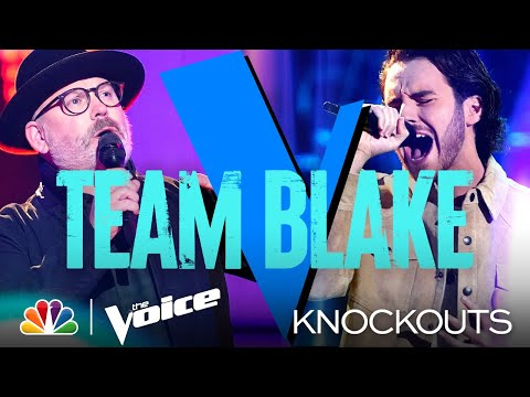 Blake Thinks It's a Tie for Andrew Marshall and Pete Mroz's Performances - The Voice Knockouts 2021