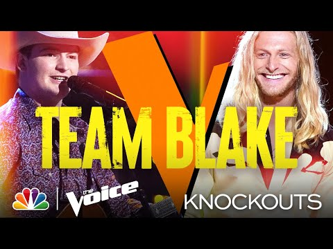 Ethan Lively and Jordan Matthew Young Give Stellar Country Performances - The Voice Knockouts 2021