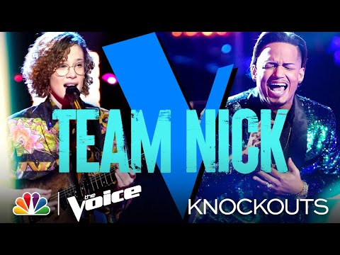 Jose Figueroa Jr. and Raine Stern Fight for Their Spot on the Show - The Voice Knockouts 2021