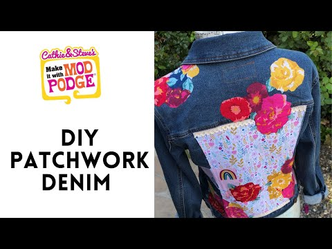 Design Your Own No-Sew Patchwork Denim Jacket