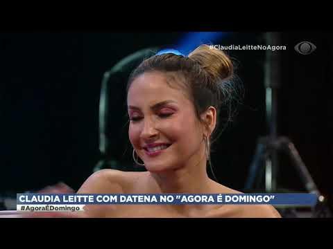 Claudia Leitte fica emocionada por estar ao lado de Datena