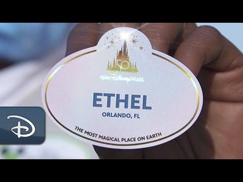 New 'EARidescence' Nametags For The World's Most Magical Celebration   Walt Disney World Resort