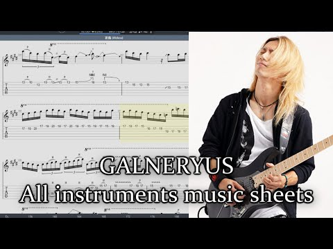 Where I can get the best GALNERYUS TABS & music sheets? (Sub Español)