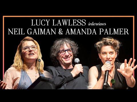LUCY LAWLESS interviews NEIL GAIMAN & AMANDA PALMER