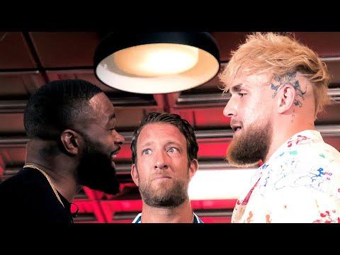 Jake Paul vs Tyron Woodley Face Off