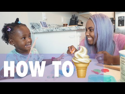 Making Yogurt Pops with a 1 Year Old   Jamie Grace & Isabella Brave