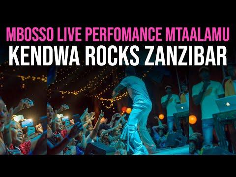 Mbosso live Perfomance Mtaalamu Kendwa Rocks ( Zanzibar )