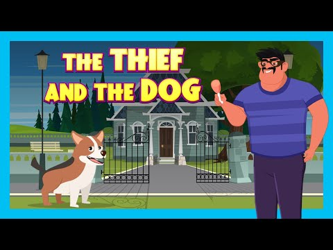 THE THIEF AND THE DOG   NEW ENGLISH STORY   KIDS HUT STORYTELLING   TIA & TOFU KIDS HUT STORYTELLING