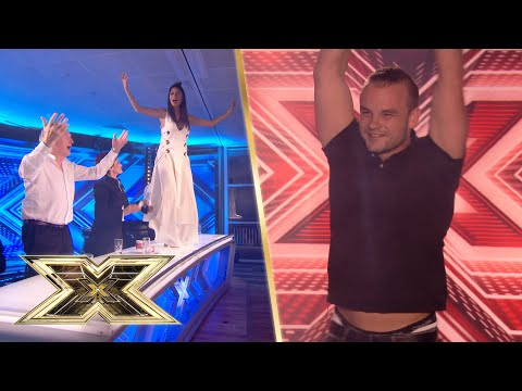 Nicole Scherzinger DANCES ON THE TABLE to this 'Friday Night' banger! | Auditions | The X Factor UK