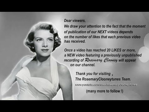 THUMBS UP FOR ROSIE - Rosemary Clooney