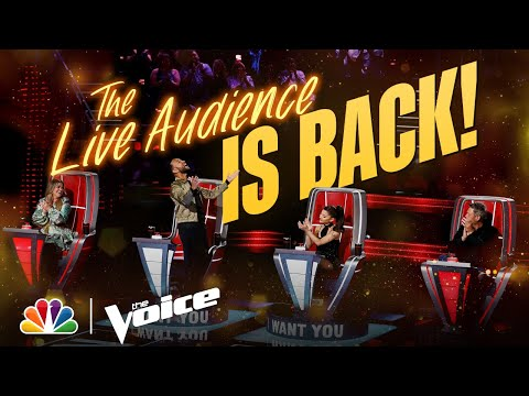 The Exciting Return of the Live Audience | The Voice 2021