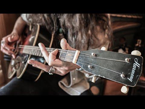 "VINTAGE BLUES • 1941 Harmony Monterey Tenor Guitar • ""Comin' Down the Line"""