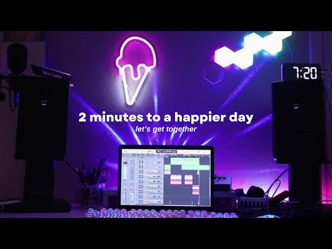 2 minutes to a happier day   let's get together cover