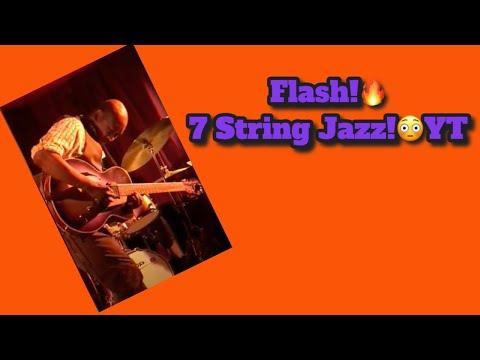 Flash!🔥7 String Jazz!😳 #7string #guitarsolo #flash #fast #jazzguitar