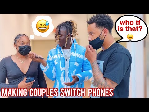 MAKING COUPLES SWITCH PHONES Loyalty Test 6 💔 Public Interview