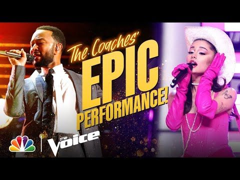 Ariana, Kelly, John and Blake Deliver an Incredible Coach Performance | The Voice 2021