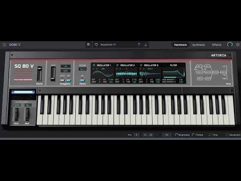 Anything Box | Messing with #Arturia #SQ80V using a single patch from this wonderful #synth