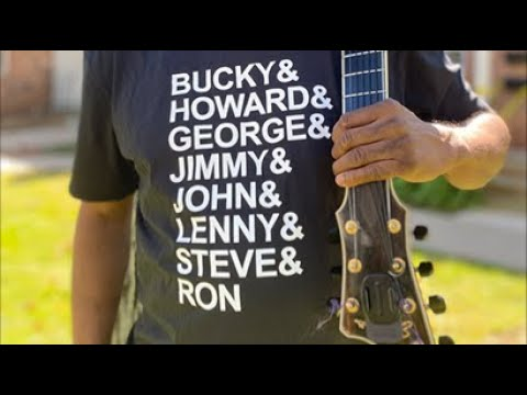 Announcing! My New Six and Seven String Jazz Guitar Heros T-Shirts!