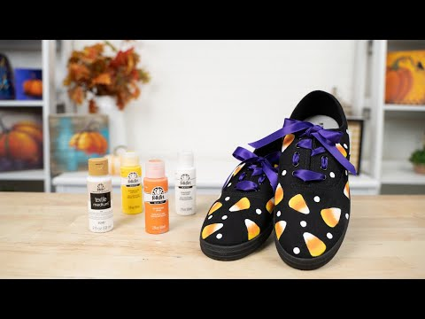 Candy Corn Painted Shoes Tutorial