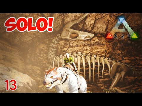 Grave of the Tyrants Cave | Artifact of the Crag | Solo! | #ArkSurvivalEvolved #ScorchedEarth | Ep13