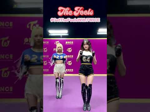 """TWICE """"The Feels""""🎶 #GetTheFeelsWithTWICE 댄스 챌린지👑 with 🍑🐯"""