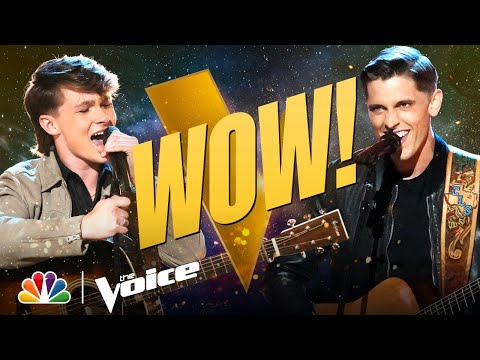 """Carson Peters vs. Clint Sherman   """"Don't Let Our Love Start Slippin' Away""""   The Voice Battles 2021"""